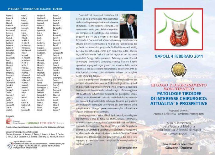 III CORSO  DI AGGIORNAMENTOMONOTEMATICOPATOLOGIE TIROIDEEDI INTERESSE CHIRURGICO:ATTUALITA' E PROSPETTIVE