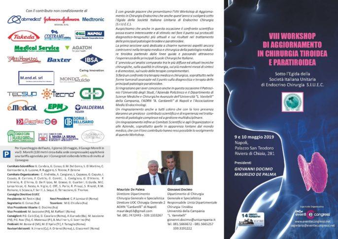 VIII Workshop di Aggiornamento in Chirurgia Tiroidea e Paratiroidea
