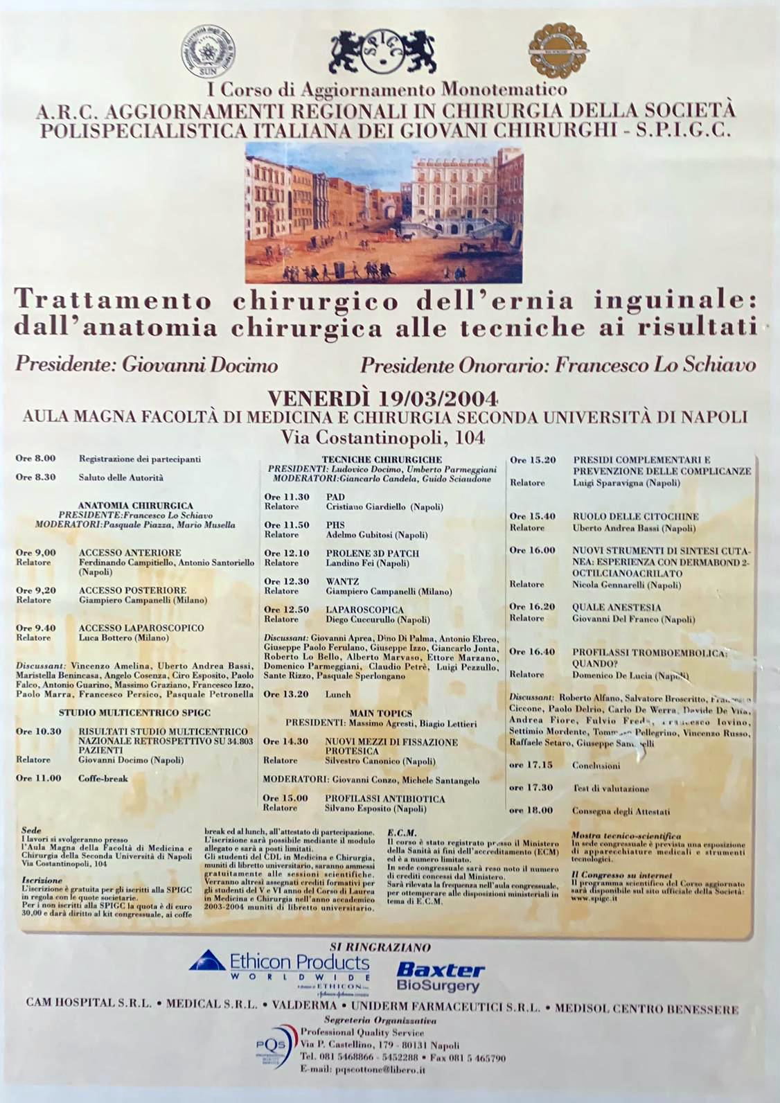 Trattamento chirurgico dll'ernia inguinale…19/03/2004